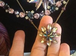 Aurora crystal flower pendant stunning