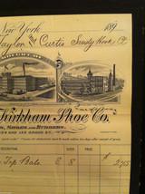 Antique Receipt 1890 St, John Kirkham Shoe Co 134 136 Grand St NYC Sandy Hook CT image 3