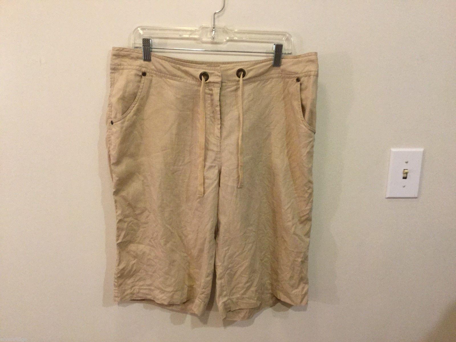 Autograph Womans Tan Shorts, Size 12