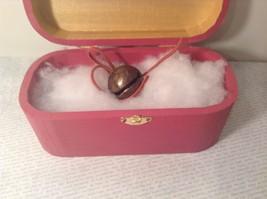 """Antique Retired Reindeer Sleigh Bell In Wood Box Handpainted by Elves - 1 1/2"""" image 5"""