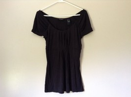 Axcess Liz Claiborne Company Black Scoop Casual Shirt Size Small