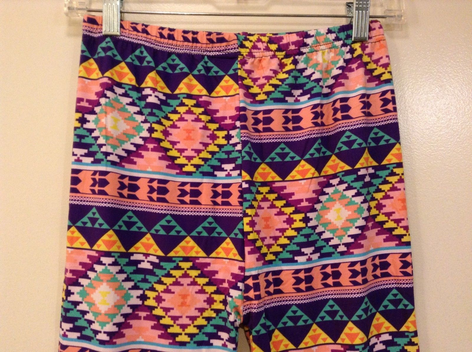 Aztec spring summer vibrant colored leggings