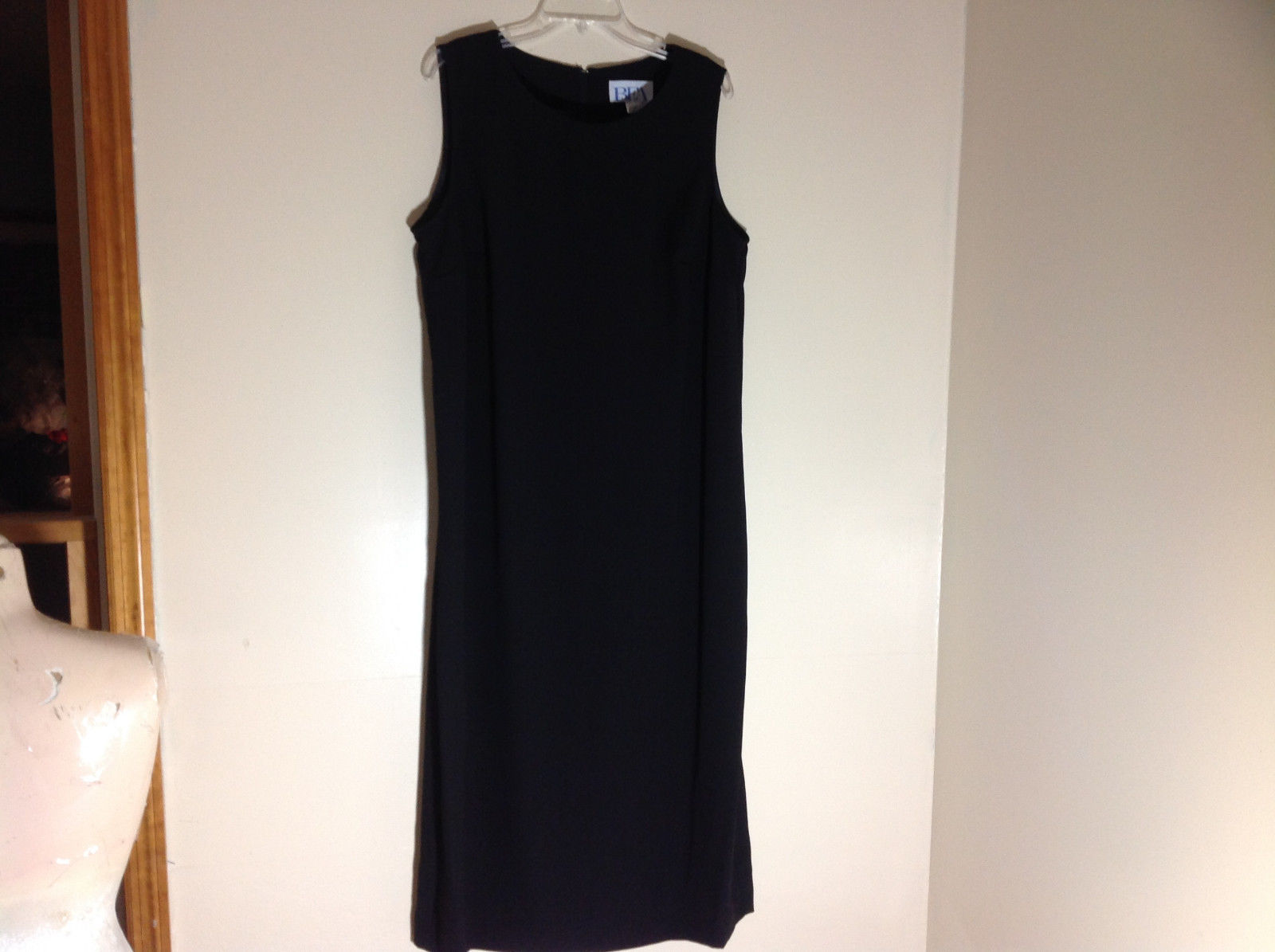 BFA Classics Sleeveless Black Full Length Dress Zipper at Back of Neck Size 18W
