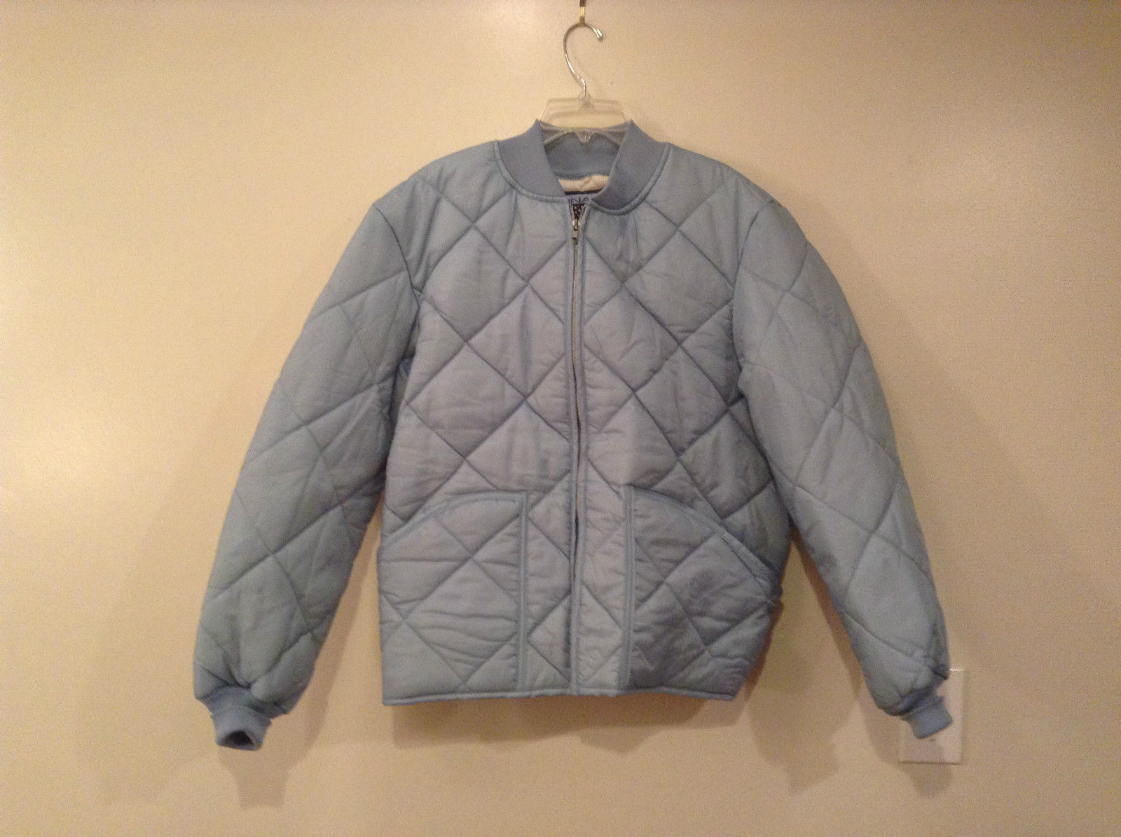 Baby Blue Thermal Lined Jacket by Snap N Wear Size M Elastic Collar Cuffs NEW