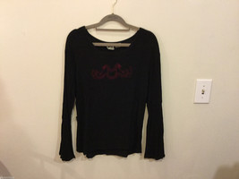 BHAG'S Black 100% Rayon with Red Dragon Embroidery Blouse, One Size fits most