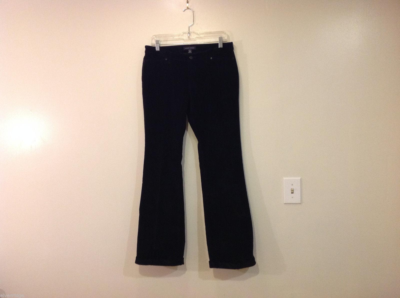 Banana Republic Black Velvet Stretch Pants with Pockets, Size 6