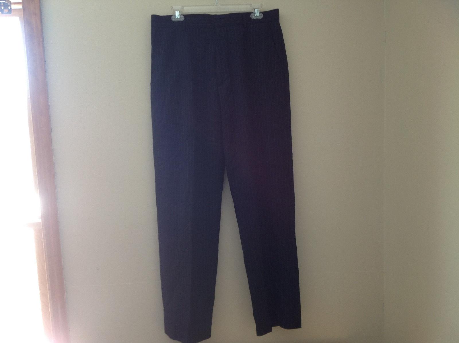 Banana Republic Black Pin Striped 4 Pocket Dress Pants Size 34 by 34