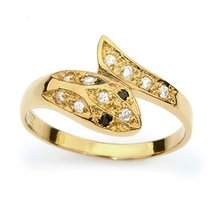 New Gold Plated Handmade Snake Fashion Ring with Colorful Crystal Cubic ... - $76.27