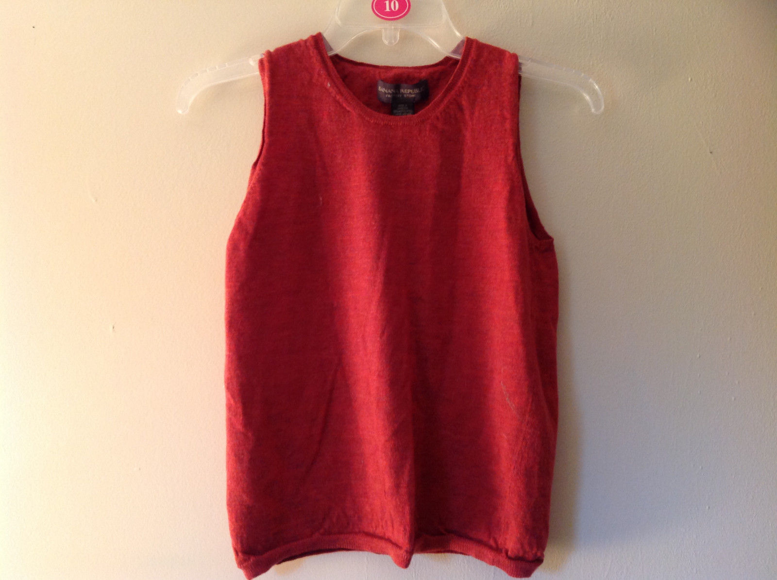 Banana Republic Red Orange Crew Neck Sweater Vest Stretchy Material Size Large
