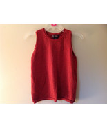 Banana Republic Red Orange Crew Neck Sweater Vest Stretchy Material Size... - $39.99