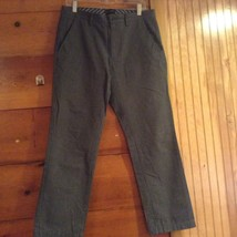 Banana Republic Vintage Straight Leg Pants Gray and White Striped Size 32 by 30