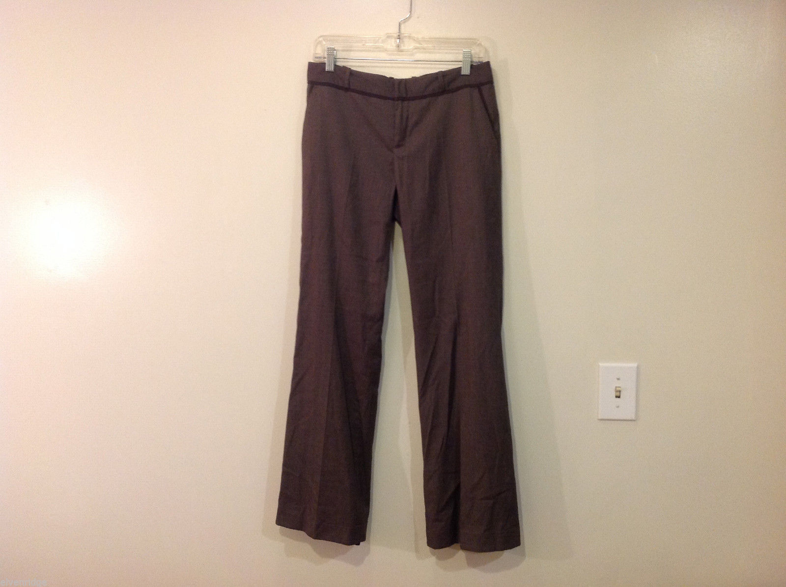 Banana Republic Ryan Fit Classic Brown Pants with Pockets, Size 8