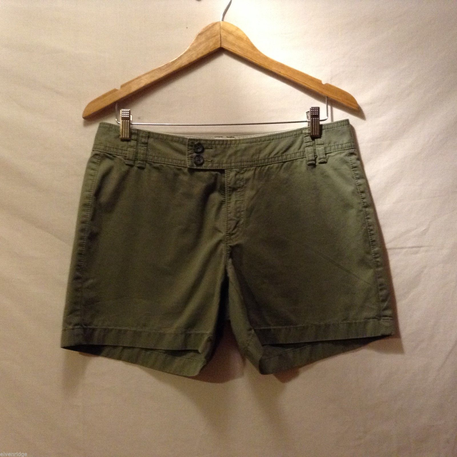 Banana Republic Womans, Olive Green Shorts, Size 8