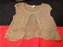 Bandolino brown short sleeve vest size large