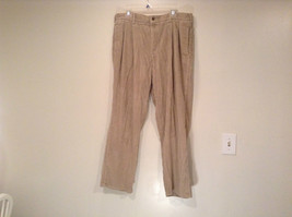 Baracuta Tan Beige Size 38 by 30 Casual Pants Front and Back Pockets Zipper