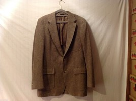 Barrister Mens Tan and Brown Sports Coat Size Unknown, See Measurements