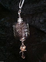 Barrel Glass Ornament w/ tight diamond cut design