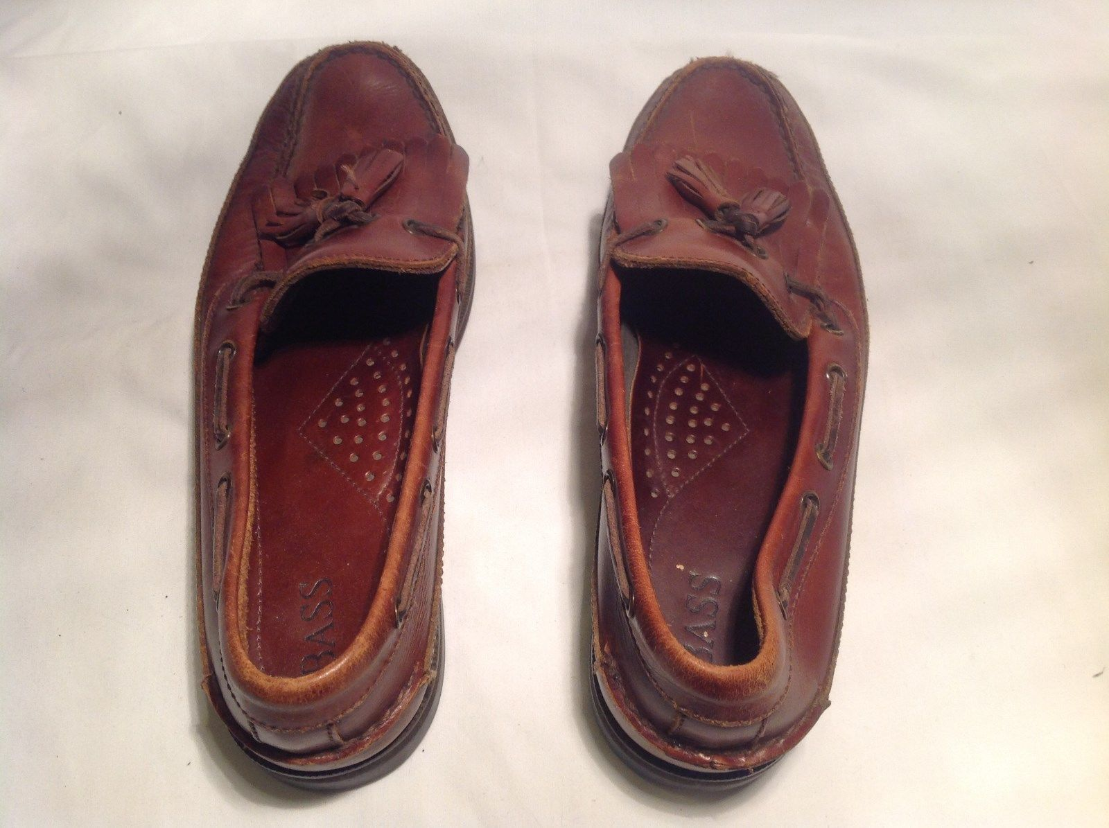 Bass Brown Loafers Good Condition Leather with Rubber Sole Size 10.5