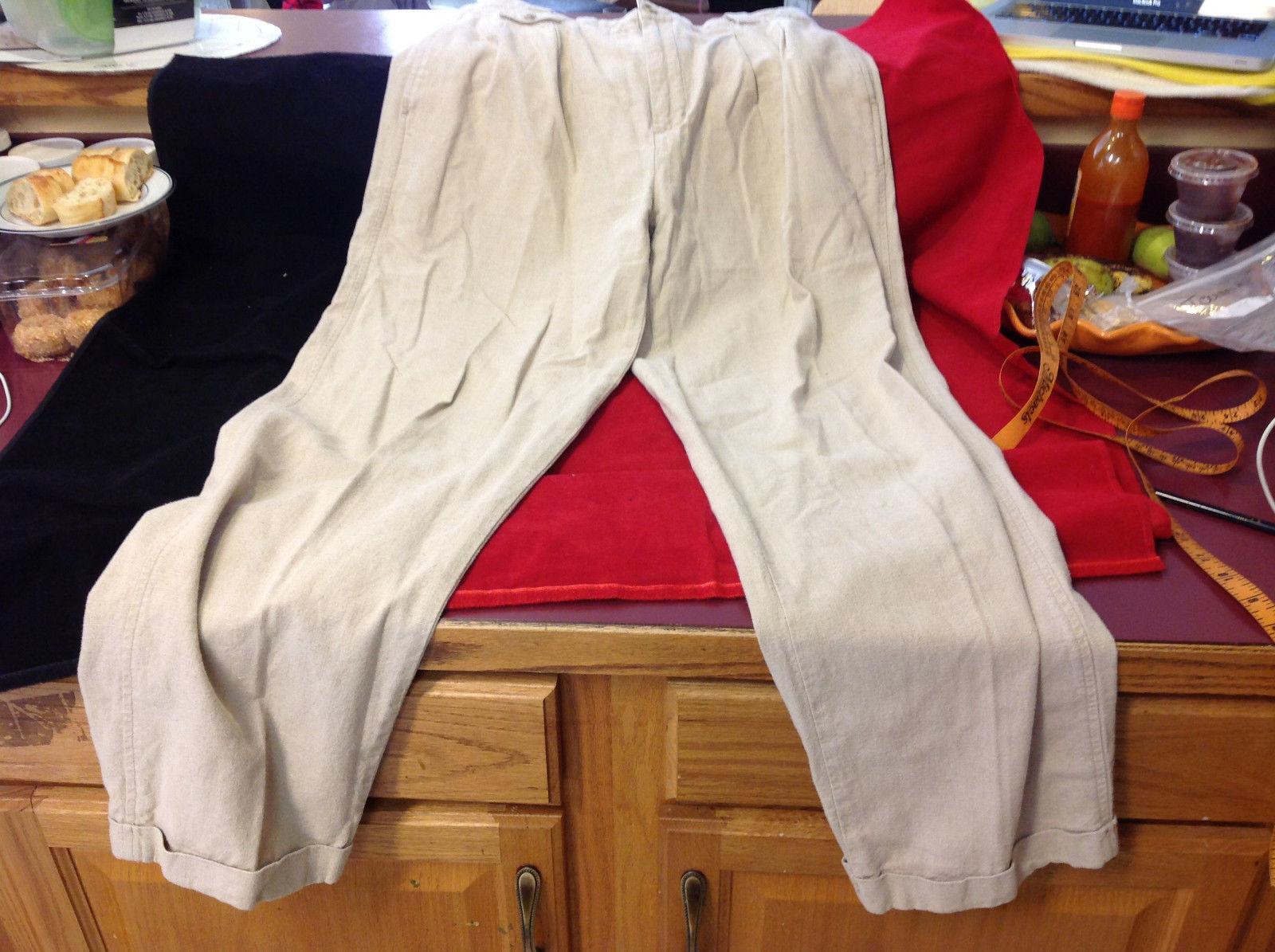 Baxter Brand Mens Formal Slacks Pants Tan Light Brown Khakis size 34