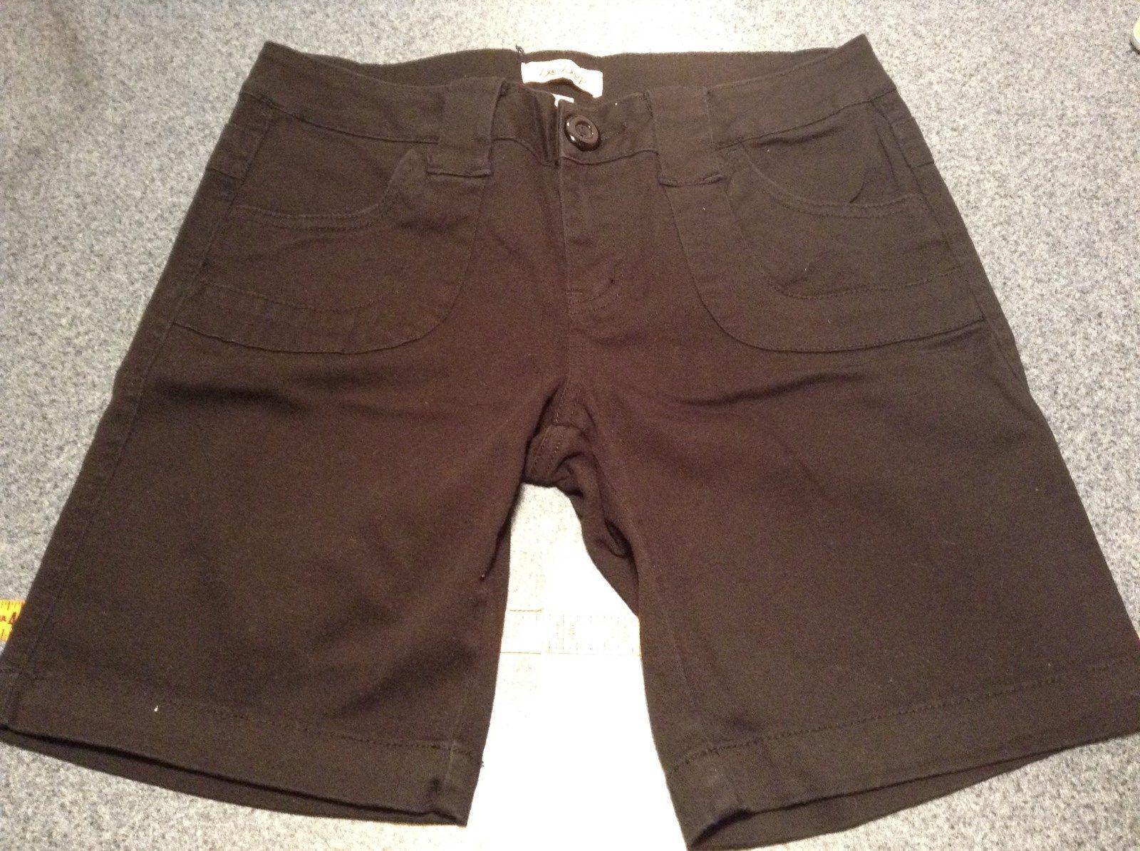 BeBop Black Shorts 98 Percent Cotton 2 Percent Spandex Size 7