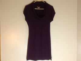 Belle Du Jour dark purple short sleeve dress empire waist size medium