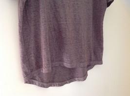 Arizona Dark Mauve Faded Scoop Neck High Low Waist Short Sleeves Shirt Size XL image 3