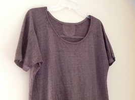 Arizona Dark Mauve Faded Scoop Neck High Low Waist Short Sleeves Shirt Size XL image 2