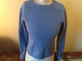 Beautiful Soft Light Blue Sweater by L.L. Bean Warm Lambs Wool Size Small