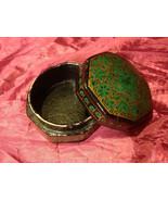 "Beautiful green trinket box 4"" Made in India - $39.99"