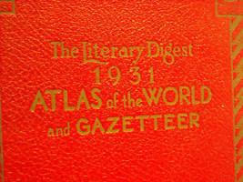 1931 Atlas of the world Gazatteer Rand McNally image 4