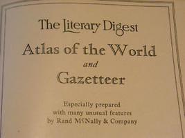 1931 Atlas of the world Gazatteer Rand McNally image 6