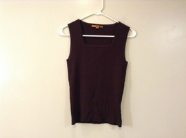 Belldini Brown Square Neck Sleeveless Top Size M Stretch Fabric image 1
