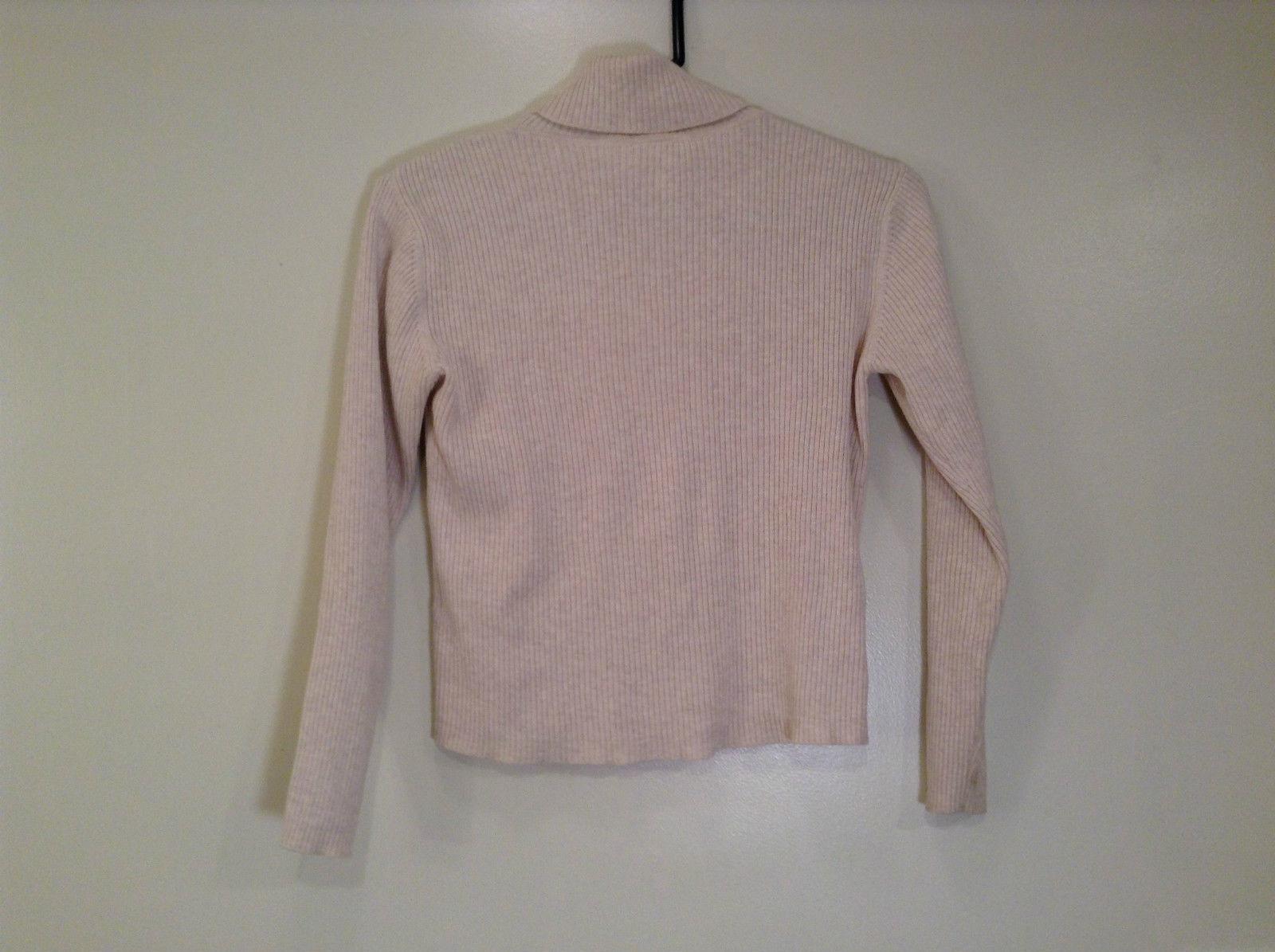 Beige Talbots Petites Long Sleeve Turtleneck Sweater Size S Stretch Fabric