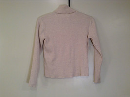 Beige Talbots Petites Long Sleeve Turtleneck Sweater Size S Stretch Fabric
