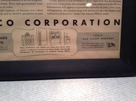 1943 WWII Newspaper Print Theres No Escape in Black Frame Philco Corporation image 7