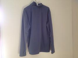 Aspen Gray with Green Zipper Fleece Sweatshirt Front Pocket with Zipper Size L image 4