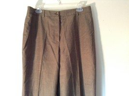 Bernard Zins Designer Pants Size 13 Bronze Colored Made in France Pleated Front