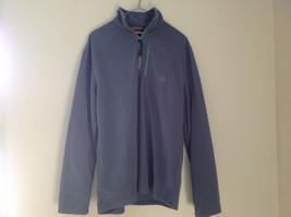 Aspen Gray with Green Zipper Fleece Sweatshirt Front Pocket with Zipper Size L image 6