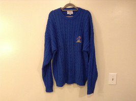 Bermuda Yachting Blue Knit Long Sleeve 100 Percent Cotton Sweater Size XXL