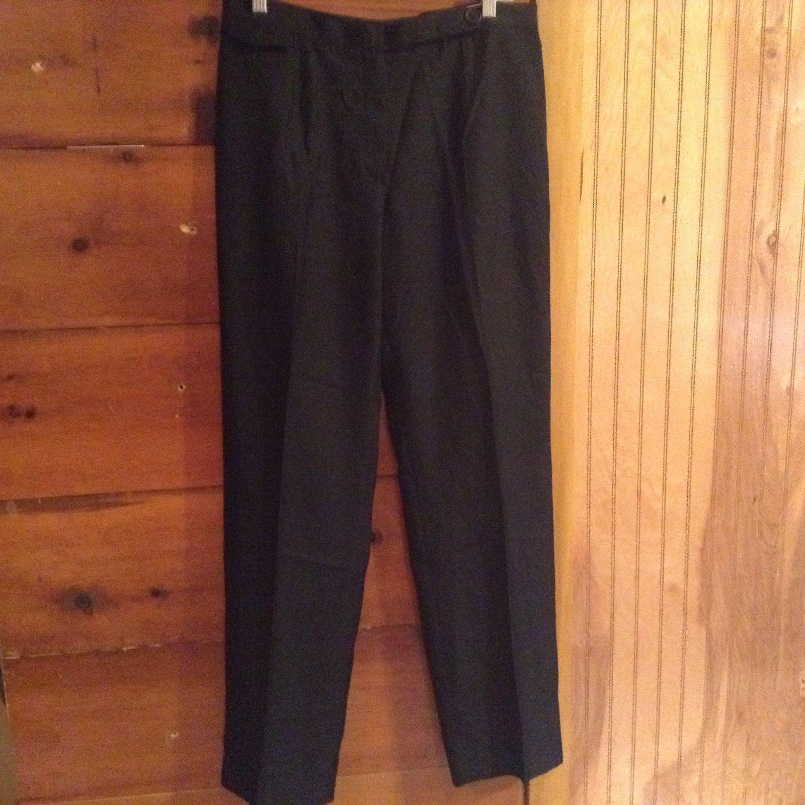 Bernard Zins Saks 5th Avenue Collection Black Dress Pants 100 Percent Silk