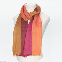 Berry Block Soft Viscose scarf with four shades image 1
