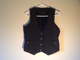 Black Checkered Pattern 4 Button Closure Vest NO TAG Measurements Below