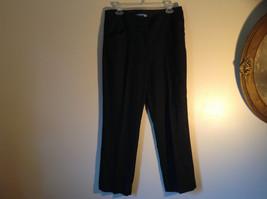 Black Checker Fabric Pattern Casual Pants 4 Pockets Antonio Melani Size 8 image 1
