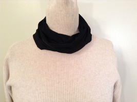 Black Circle Magic Slinky Infinity Scarf Magic Scarf Company New with Tag