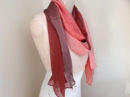 Attractive Crimson Red Pink Shimmery Material Fashion Scarf Made in China image 2