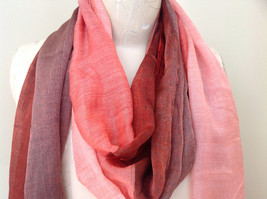 Attractive Crimson Red Pink Shimmery Material Fashion Scarf Made in China image 3