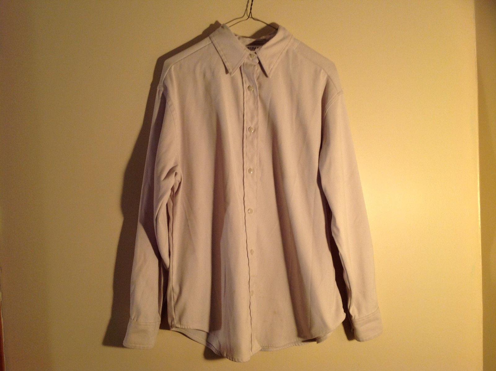 Bill Blass Jeans Tan Long Sleeve Button Up Shirt Heavy Material Size Small
