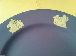 1957 Wedgwood Jasperware Set - Large and small blue plate set image 3