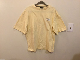 Bill Blass Light Yellow 100% cotton T-Shirt, Size M