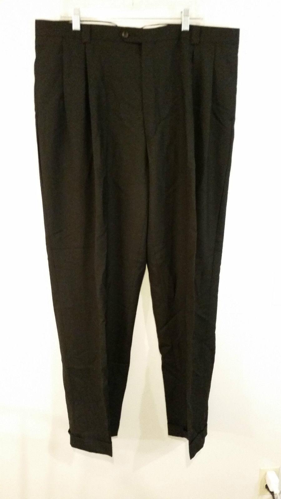 Black 100 Percent Wool FUBU Pleated Front Dress Pants 40W by 32L